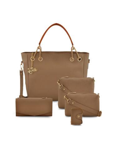 f1cfad8f-8609-4ff1-8119-1ae1e013ecb81569585543666-LaFille-Beige-Woman-Handbag-set-of-5-Bags-6931569585530792-1